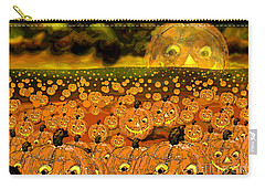 Midnight Pumpkin Patch Carry-all Pouch by Carol Jacobs