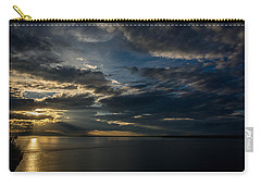 Midnight Sun Over Cook Inlet Carry-all Pouch by Andrew Matwijec