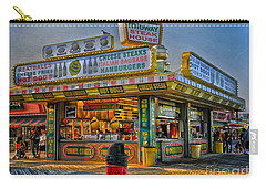 Carry-all Pouch featuring the photograph Midway Steak House by Debra Fedchin