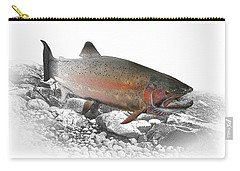 Migrating Steelhead Rainbow Trout Carry-all Pouch by Randall Nyhof