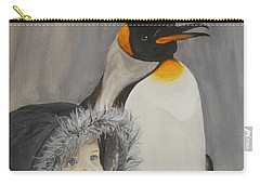 Mika And Penguin Carry-all Pouch