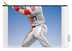 Mike Trout Carry-all Pouch by Scott Weigner