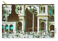 Carry-all Pouch featuring the photograph Milan Gallery by Silvia Ganora