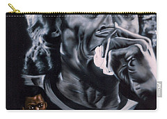 Carry-all Pouch featuring the painting More Miles Of Davis by Thomas J Herring
