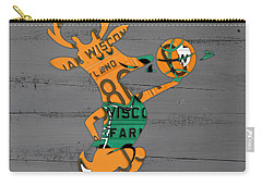 Milwaukee Bucks Basketball Team Logo Vintage Recycled Wisconsin License Plate Art Carry-all Pouch