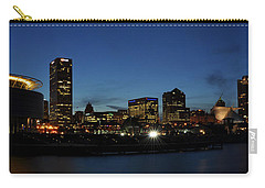 Carry-all Pouch featuring the photograph Milwaukee City Scape Panorama by Deborah Klubertanz