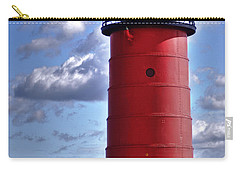 Carry-all Pouch featuring the photograph Milwaukee Pierhead Light by Deborah Klubertanz