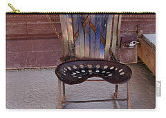 Carry-all Pouch featuring the photograph Miner's Rocker by Fran Riley