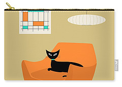 Mini Abstract With Orange Chair Carry-all Pouch