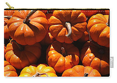 Carry-all Pouch featuring the photograph Mini Fall Pumpkins by Denyse Duhaime