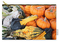 Carry-all Pouch featuring the photograph Mini Pumpkins And Gourds by Cynthia Guinn