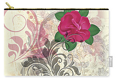 Mini Rose Flourish Carry-all Pouch