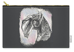 Carry-all Pouch featuring the drawing Miniature Schnauzer by Rachel Hames