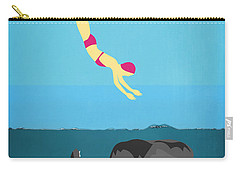 Minimal Sea Life  Carry-all Pouch by Mark Ashkenazi