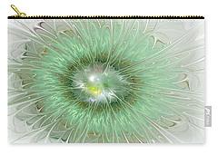 Carry-all Pouch featuring the digital art Mint Green by Svetlana Nikolova