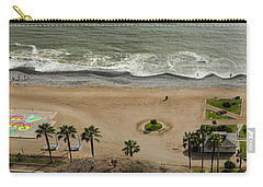 Miraflores Beach Panorama Carry-all Pouch by Allen Sheffield