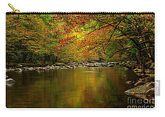 Carry-all Pouch featuring the photograph Mirror Fall Stream In The Mountains by Debbie Green
