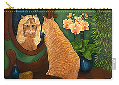 Carry-all Pouch featuring the painting Mirror Mirror On The Wall by Karen Zuk Rosenblatt