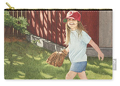 Carry-all Pouch featuring the painting Mischief by Dee Dee  Whittle