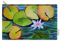 Whimsical Waterlily Carry-all Pouch
