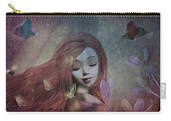 Carry-all Pouch featuring the digital art Miss Little Crocus by Barbara Orenya