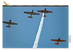 Carry-all Pouch featuring the photograph Missing Man Flyover by Allen Sheffield
