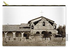 Mission San Antonio De Padua California Circa 1885 Carry-all Pouch by California Views Mr Pat Hathaway Archives