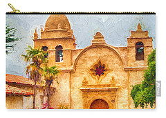Mission San Carlos Borromeo De Carmelo Impasto Style Carry-all Pouch