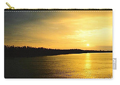 Sunrise Over The Mississippi River Post Hurricane Katrina Chalmette Louisiana Usa Carry-all Pouch by Michael Hoard