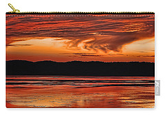 Carry-all Pouch featuring the photograph Mississippi River Sunset by Don Schwartz