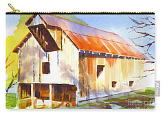 Missouri Barn In Watercolor Carry-all Pouch