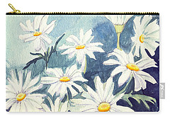 Misty Daisies Carry-all Pouch by Katherine Miller