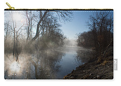 Misty Morning Along James River Carry-all Pouch