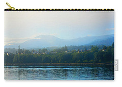 Misty Morning In Port Angeles Carry-all Pouch by Connie Fox