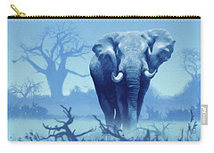 Misty Morning In The Tsavo Carry-all Pouch by Anthony Mwangi