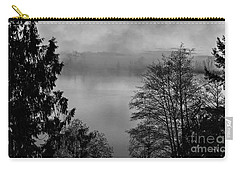 Misty Morning Sunrise Black And White Art Prints Carry-all Pouch