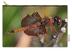 Mocha And Cream Dragonfly Profile Carry-all Pouch