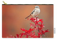 Mockingbird Autumn Square Carry-all Pouch by Bill Wakeley