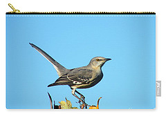 Carry-all Pouch featuring the photograph Mockingbird Looking Good by Lizi Beard-Ward