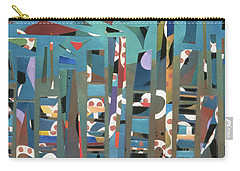 modern abstract painting - Tropical Storm Carry-all Pouch