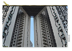 Carry-all Pouch featuring the photograph Modern Skyscraper Apartment Building Singapore by Imran Ahmed