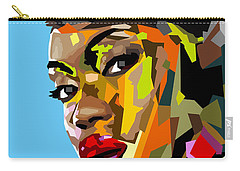 Carry-all Pouch featuring the digital art Modern Woman by Anthony Mwangi