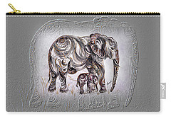 Mom Elephant Carry-all Pouch