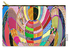 Mom Hugs Baby Crystal Stone Collage Layered In Small And Medium Sizes Variety Of Shades And Tones Fr Carry-all Pouch