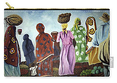 Carry-all Pouch featuring the painting Mombasa Market by Sher Nasser