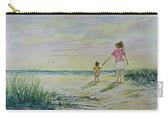 Mommy And Me At The Beach Carry-all Pouch