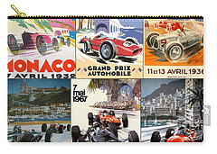 Monaco F1 Grand Prix Vintage Poster Collage Carry-all Pouch