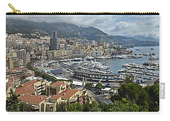 Carry-all Pouch featuring the photograph Monaco Harbor by Allen Sheffield