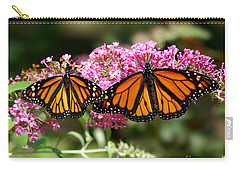 Monarch Butterflies Carry-all Pouch by Liz Masoner