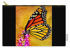 Monarch Butterfly Color Splash Sunset Carry-all Pouch